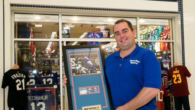 Ed Bush, owner of GameDay Sports, in his store in the Ocean Co. Mall—June 20, 2016 -Toms River, NJ.-Staff photographer/Bob Bielk/Gannett NJ
