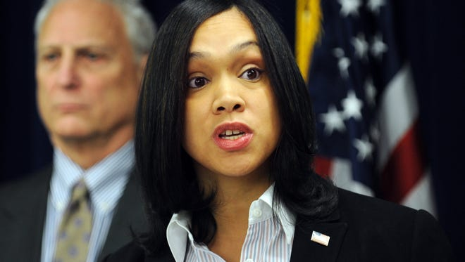 Baltimore State's Attorney Marilyn Mosby announced charges against six Baltimore police officers this morning.