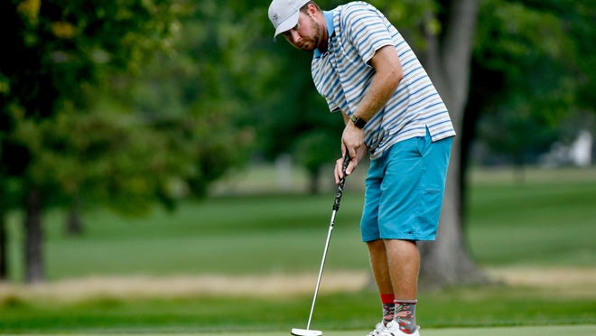 Scott Phegley reached Saturday's title match of the Men's City golf tournament by putting well like he did here in the 2018 event. Phegley meets Jake Schneider at 8 a.m. at Newman Golf Course.