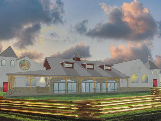 A rendering of the brewpub.
