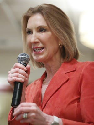 Carly Fiorina speaks to the Dallas County Republicans Thursday, May 7, 2015.
