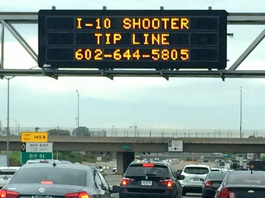 An interstate sign above I-10 asked for anybody that