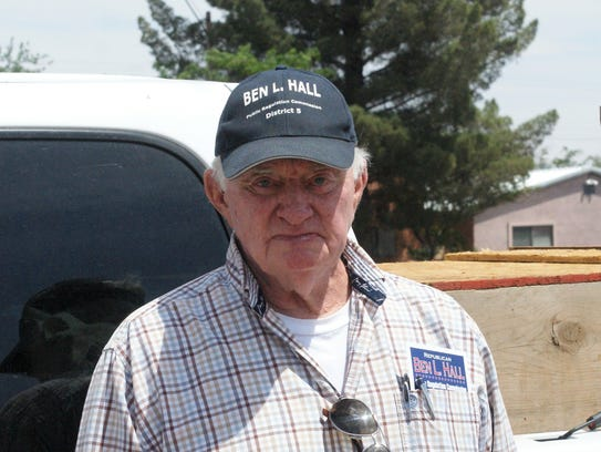 Ben L. Hall of Alamogordo is shown during a campaign