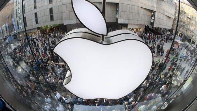 Apple logo file photo.