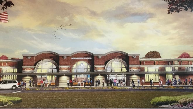 Updated rendering of the new Amtrak station on Central Avenue in Rochester, scheduled to open in 2017.