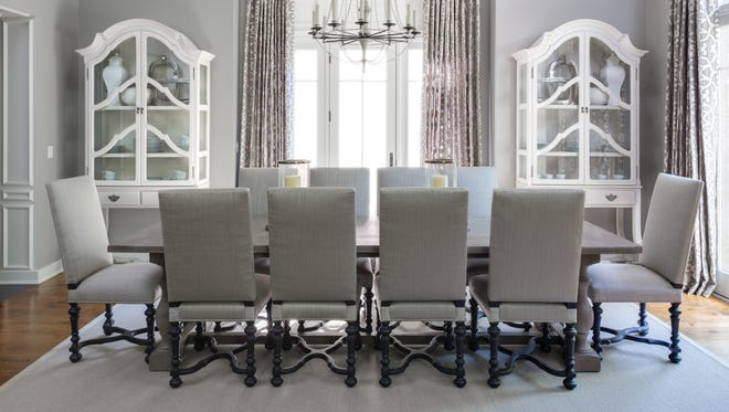 Dining room designed by Ruth Richards, Interiors at Woodside