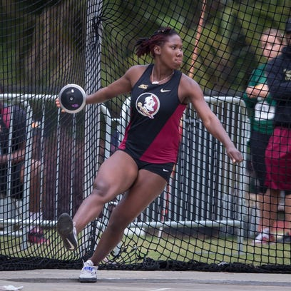 Kellion Knibb competes at the 2016 Seminole Invitational