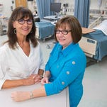 Pensacola State College medical simulation lab experts, Annette Orangio, left, and Marta Suarez-O'Connor, right, will spend a week in Denmark teaching Danish educators about the design and operation of the Warrington campus' nursing simulation lab. PSC is recognized as a primer nursing simulation lab.