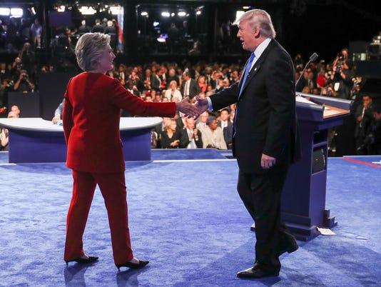 AP APTOPIX CAMPAIGN 2016 DEBATE A ELN USA NY