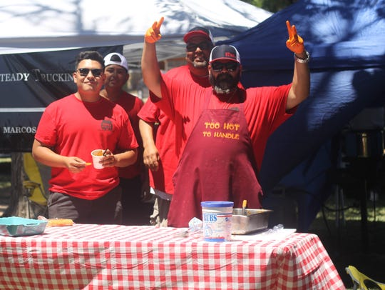 Hundreds of local residents chow down on chili during