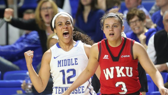 MTSU's Brea Edwards (12) was named a National Player of the Week on Tuesday.