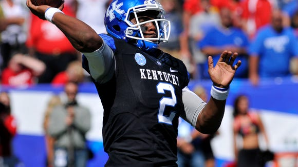Kentucky's Jalen Whitlow started eight games for the Wildcats last season.
