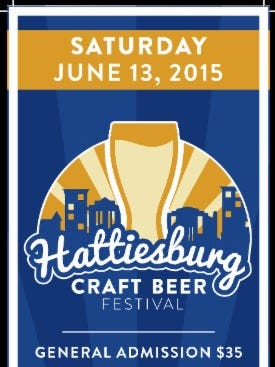 The Hattiesburg Craft Beer Festival will be held at the Train Depot on Saturday, June 13, from 1-4 p.m.