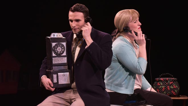 """Abigail Rethwisch and Patrick Jones star as Lucy and Ben in the Tri-Cities Opera production of """"The Telephone."""""""