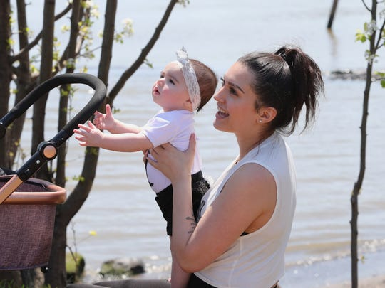 Taylor Bergamino of Nyack introduces her daughter,