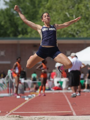 Lancaster's Hope Purcell won the Division I state long jump (19-01.25) on Saturday at Ohio State's Jesse Owens Memorial Stadium. She also finished second in the high jump and placed eighth in the 100 hurdles.