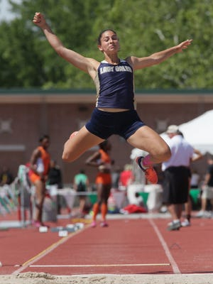 Lancaster's Hope Purcell won the Division I state long jump championship in 2017 and placed second in the high jump.