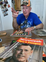 Johnny Newberry, 85, recalls the capture of Brushy Mountain State Prison inmate James Earl Ray after two-and-a-half days on the run in June 1977. Newberry held the leash of Little Red, one of the bloodhounds who sniffed Ray out in the woods above the New River community.
