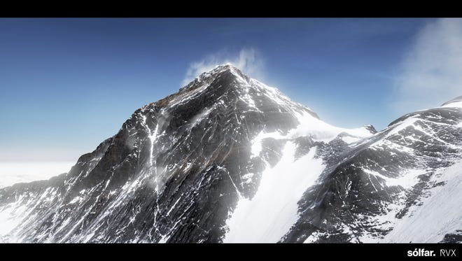A still image from Solfar's upcoming virtual reality experience, 'Everest,' which provides consumers the ability to simulate parts of a perilous climb up the world's tallest mountain.