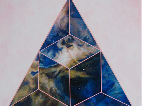 """No. 28, Orion Nebula,"" 36 inches by 36 inches, Christie"