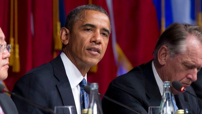 President Obama speaks during the International Civil Society event on Monday  in New York City.
