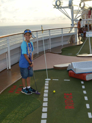 Miniature golf on the cruise