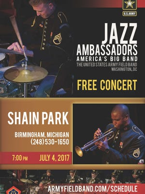 Celebrate July 4 with the U.S. Army band in Birmingham.