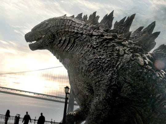 "This film image released by Warner Bros. Pictures shows a scene from ""Godzilla."""