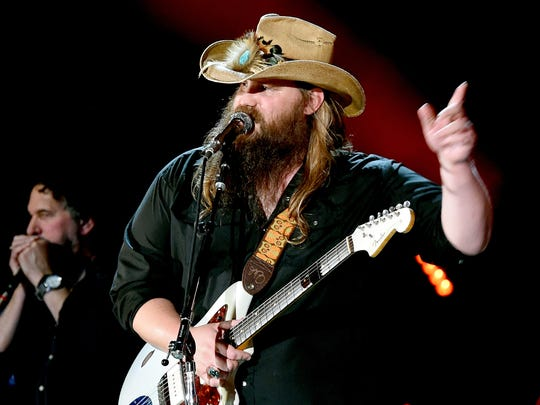 Chris Stapleton will perform on Aug. 26 at Klipsch Music Center.