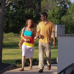 Jill Duggar and Derick Dillard in a scene from TLC's '19 Kids and Counting.'