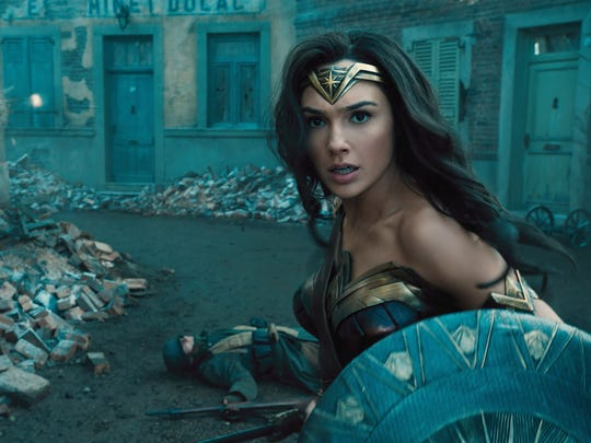 Gal Gadot goes to war as the title superhero of 'Wonder