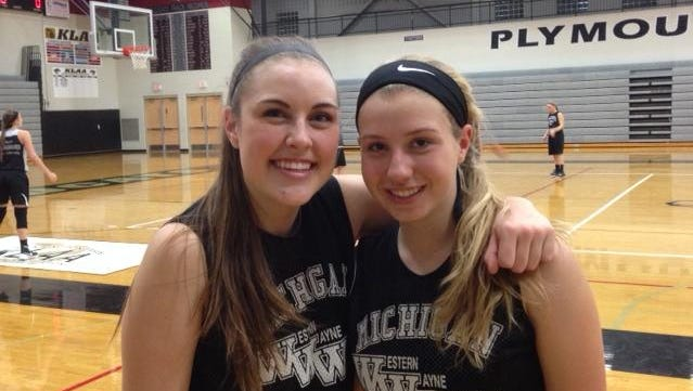 Cassidy Lewis (left) and Hannah Badger are two key seniors for Plymouth.