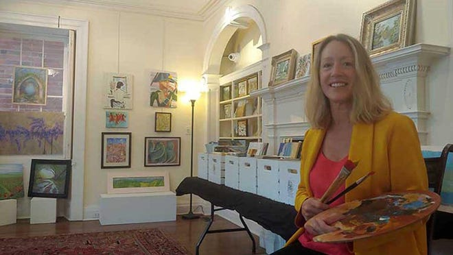 Lisa Bisbee-Lentz hosts a final sale at the Greater Good Gallery in the Isaac Taylor House on Craven Street during ArtWalk. The gallery converts to an art school next week.