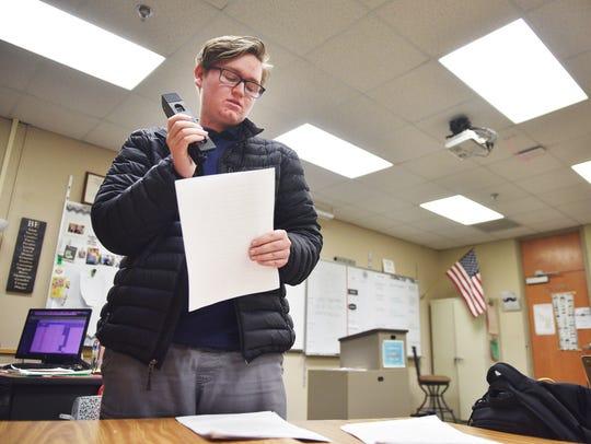 Lincoln High School Statesmen editor in chief Gage