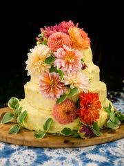 Polly's cake for her daughter's wedding.