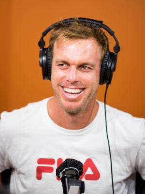 Sam Querrey talks about competing in the Western and Southern Open in the Seacrest Studios at Cincinnati Children's Hospital Medical Center Tuesday, August 15, 2017.