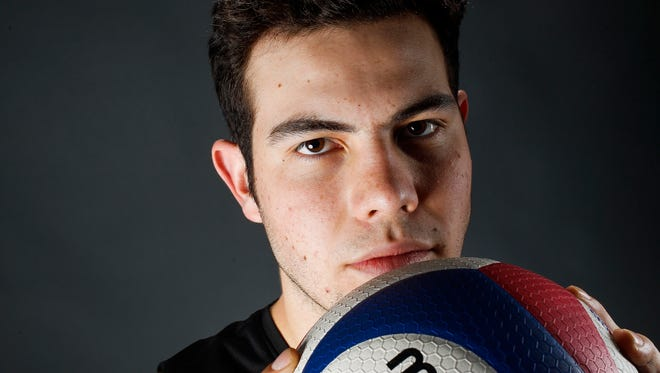 Boulder Creek senior volleyball player  Liam Santa Cruz.