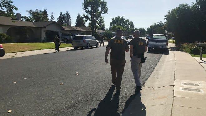 FBI agents raided a home in Visalia early Thursday morning.