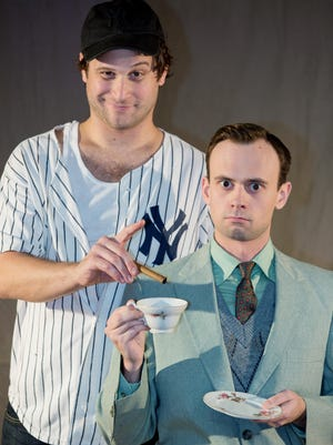 "Steven Kraski, left, as Oscar and Brett Cantrell as Felix in ""The Odd Couple."""