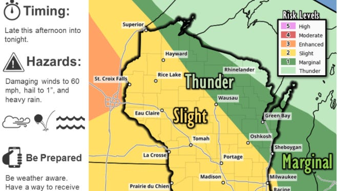 Severe weather possible this afternoon and tonight.