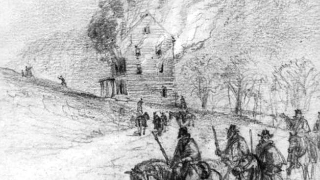 Stoneman's Raiders burned down Patterson's mill in Lenoir, though the mill supplied Federal agents in east Tennessee.