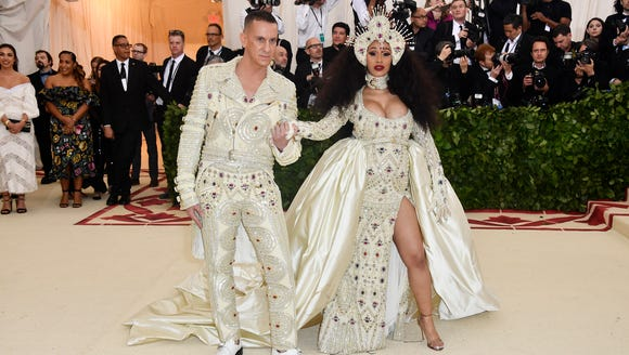 Designer Jeremy Scott and Cardi B