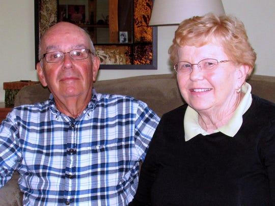 Clayton and Nancy Sauberan of Horseheads are grateful