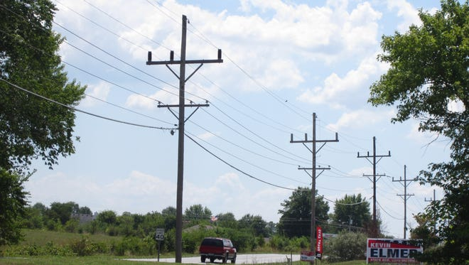 Empire District Electric Company is the main power provider in Nixa, where lines run parallel to North Main Street.