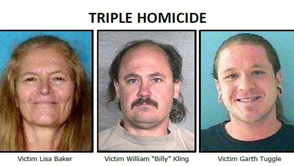 Lisa Baker, William Kling and Garth Tuggle were found shot and burned in a pickup truck, June 9, 2014, in Surprise.