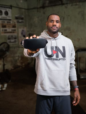 "LeBron James stars in a new VR program called ""Striving for Greatness: An UNINTERRUPTED Original,"" a full, 12+-minute virtual reality experience featuring LeBron James created exclusively for Oculus on Samsung Gear VR."