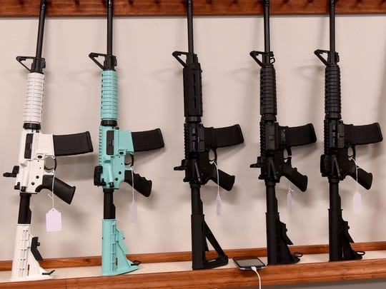 AR 15s available at The Gun Depot located north of Hanover in Perry Township. The business offers free firearm training for school employees, if the school allows employees with concealed carry permits to bring the gun into the building.