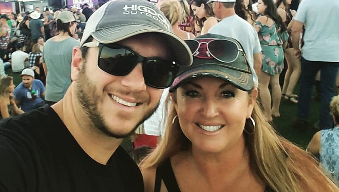 Sonny and Heather Melton attend the Route 91 Harvest festival on Oct. 1, 2017, the night Sonny Melton was shot and killed.