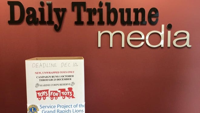 Daily Tribune Media is serving as a drop-off site for this year's Toys for Tots collection.