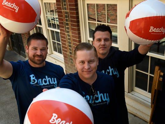 Beachy CEO Matt Houston, left, and teammates David